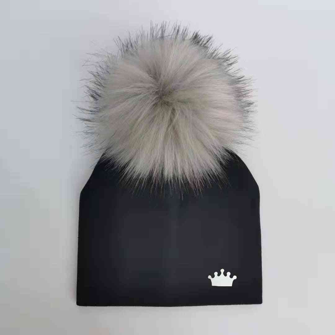 Baby Boy Cotton Hats, Pom Crown Hat