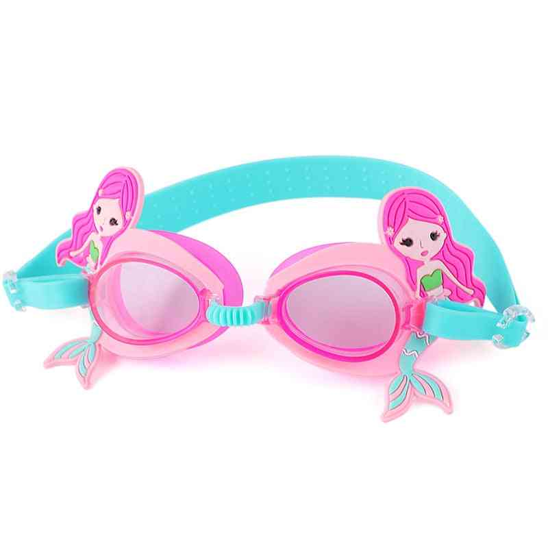 Cartoon Cute Goggles - Anti Fog Swimming Glasses