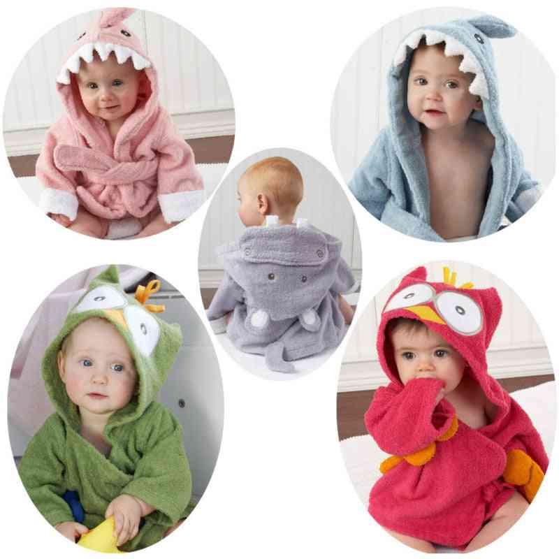 Children Pajamas With Cartoon Printed, Sleepwear Baby Bathrobe