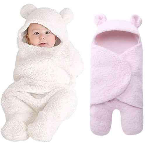 Newborn Baby Boy, Girl Swaddle Sleeping, Cotton Sleepwear Blanket Prop