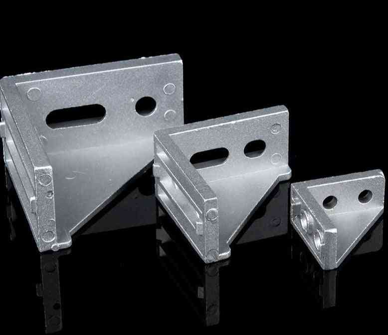 Aluminum Corner Bracket Fittings For 20mm Extrusions