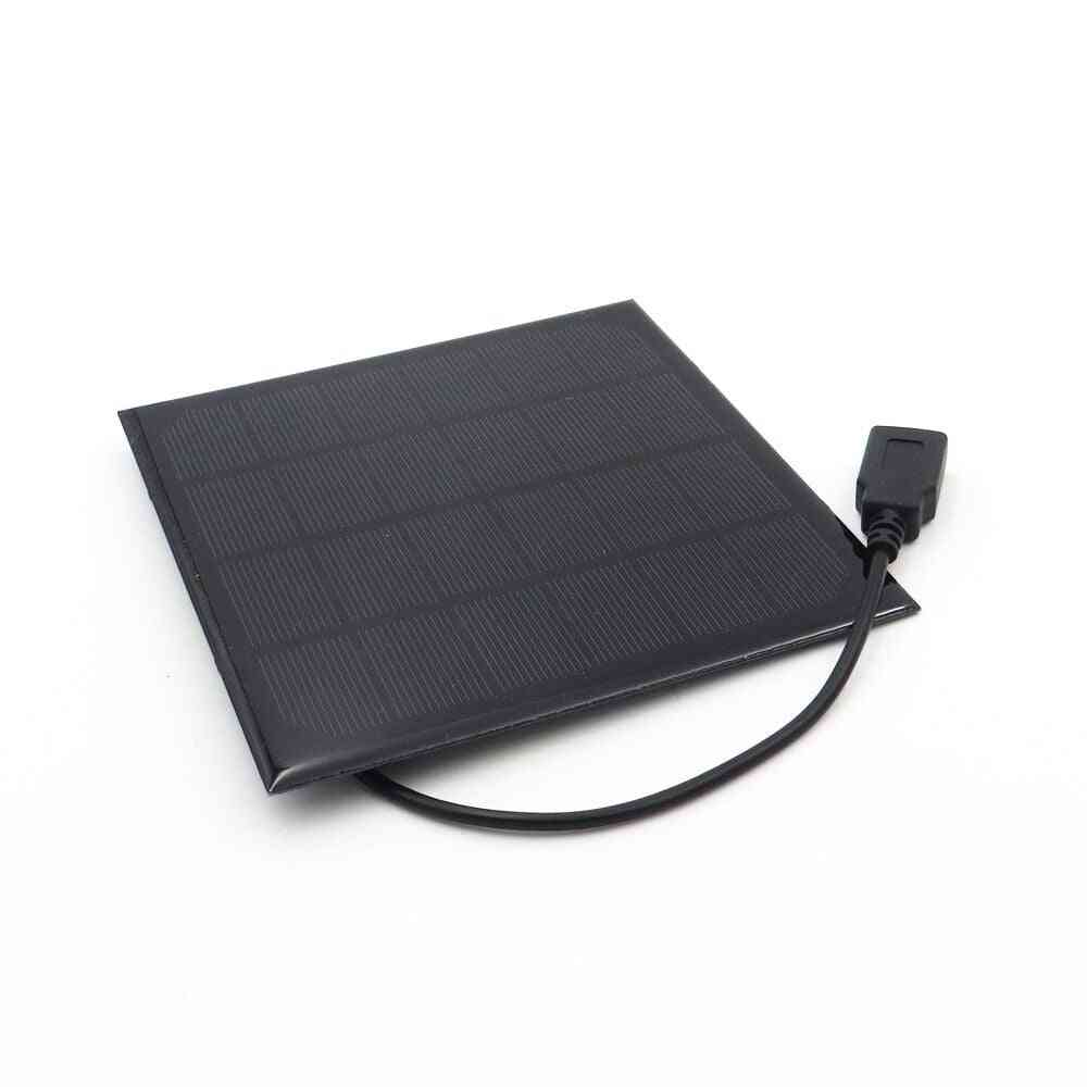 6v 3w Polycrystalline Solar Panel With Cable Wire