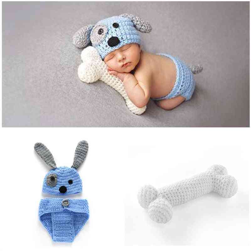 Newborn Baby Photography Props Hat, Crochet Knit Costume Boy Clothes Infant Outfits Accessories