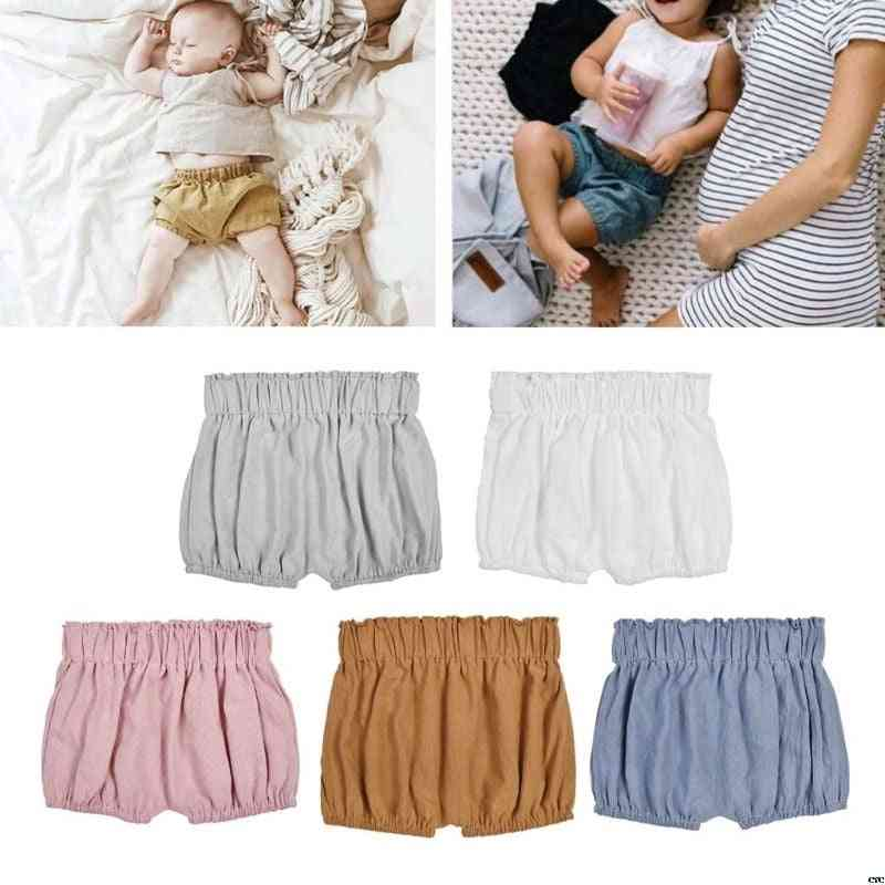 Baby Boy Cotton Shorts, Infant Ruffle Bloomers, Toddler Summer Panties