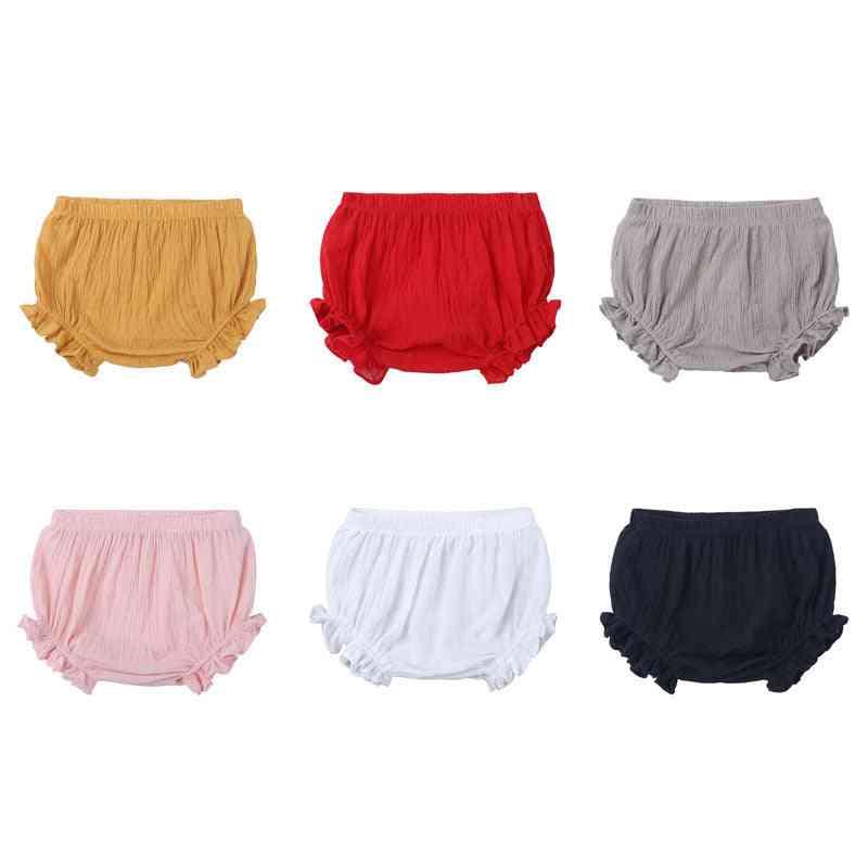 Linen Girl Newborn Summer Baby Cotton Shorts Pants