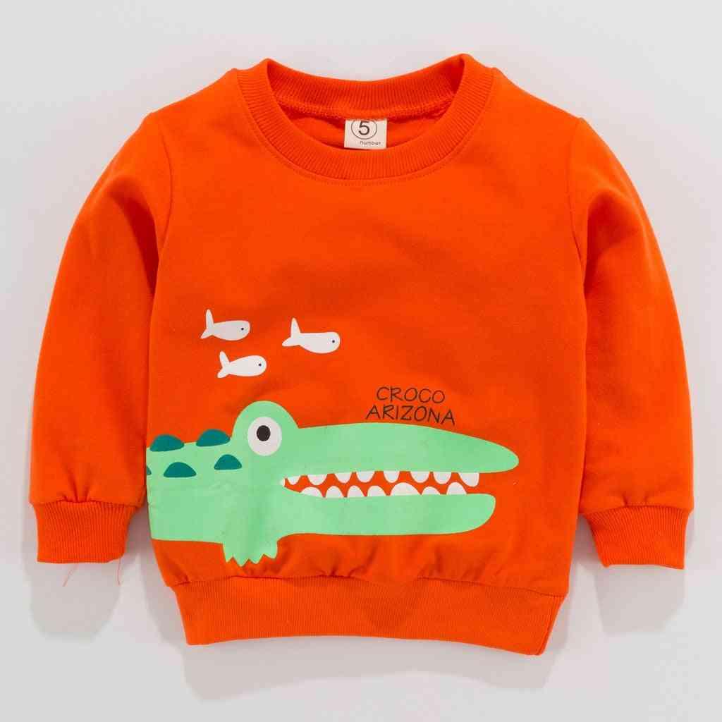 Toddler Kid Baby Girl Boy Clothes, Long Sleeve Cartoon Printed T-shirt Tops