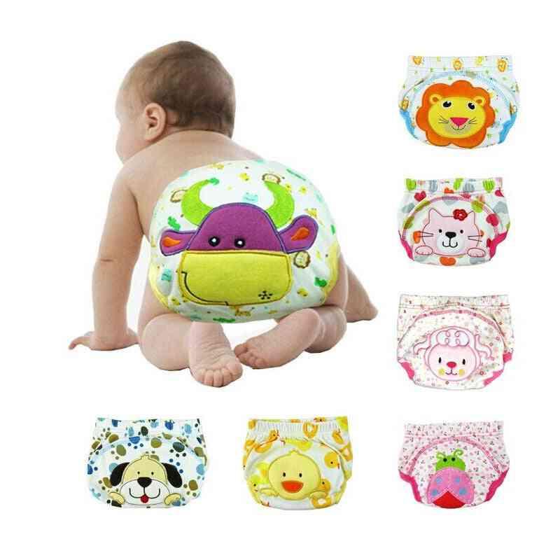 Infant Reusable Cartoon Training Diaper Pants For Newborn