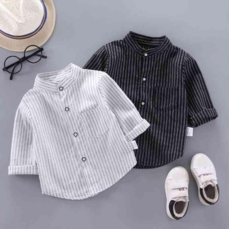 Long Sleeve, Striped Print-spring Shirts