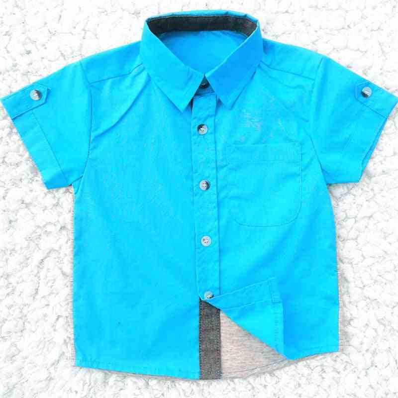 Baby Boy Clothes, Summer Short Sleeve Classic Lapel Shirts Tops With Pocket