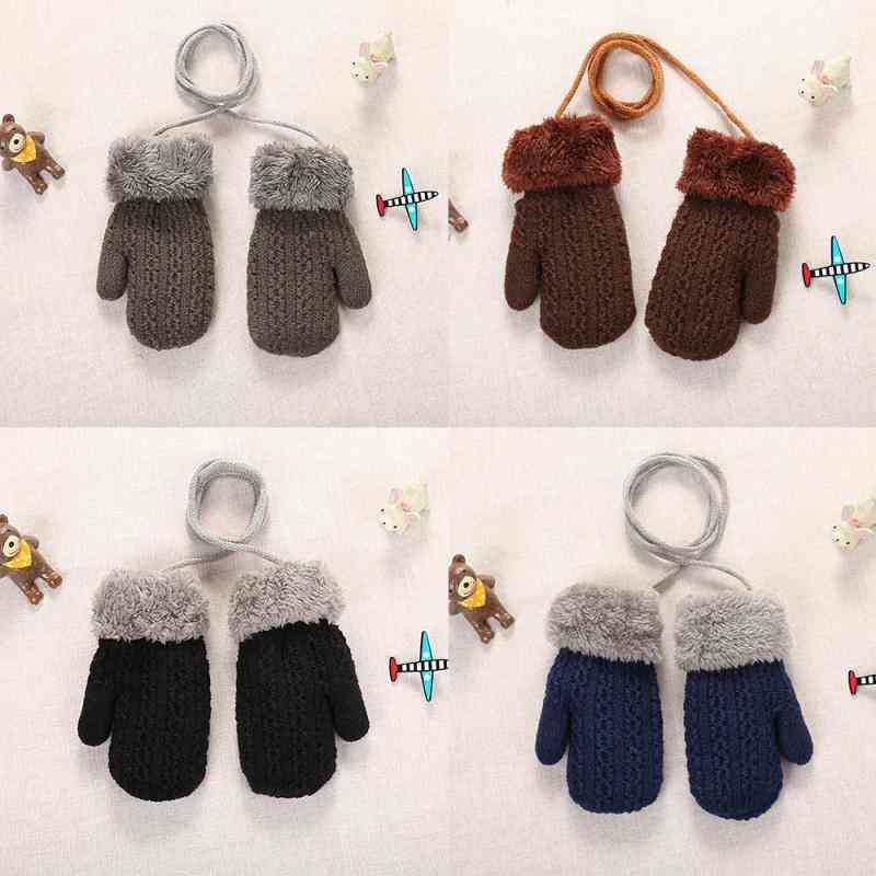 Warm Wool Cute Thick Mittens / Gloves For Toddler