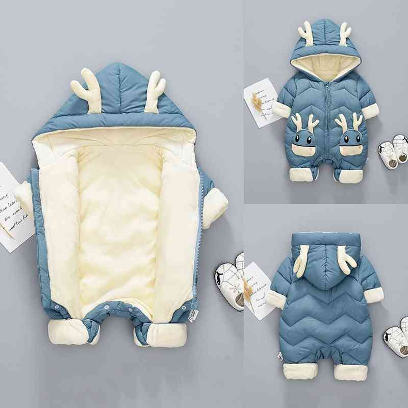 Winter Hooded Rompers-newborn Snowsuit