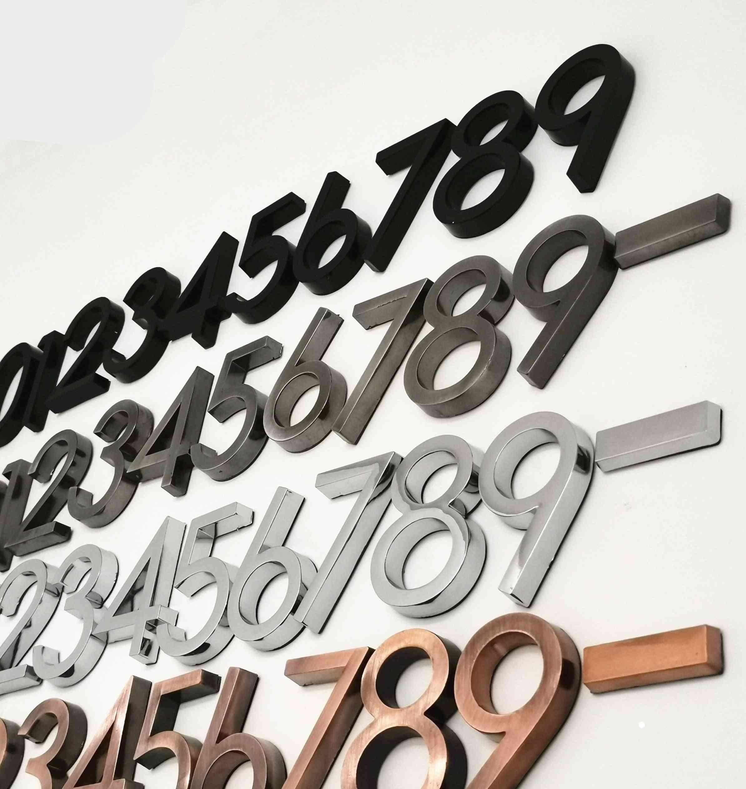 Modern Door Number Plaque
