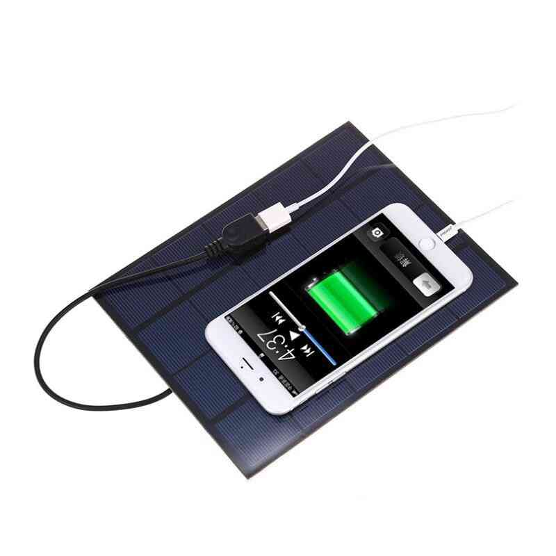5v 5w Portable Solar Power Panel With Usb