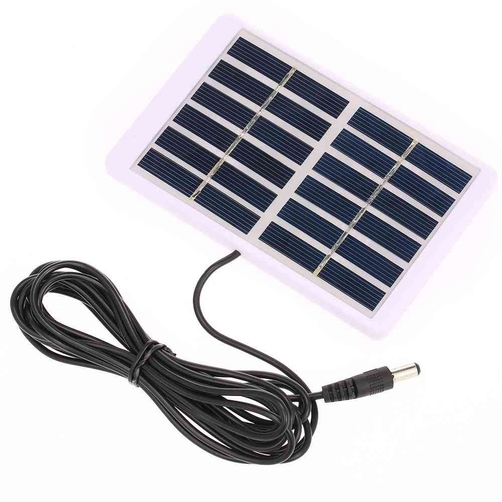 1.2w/6v Portable Solar Charger With 5521 Dc Output-(84*130mm)