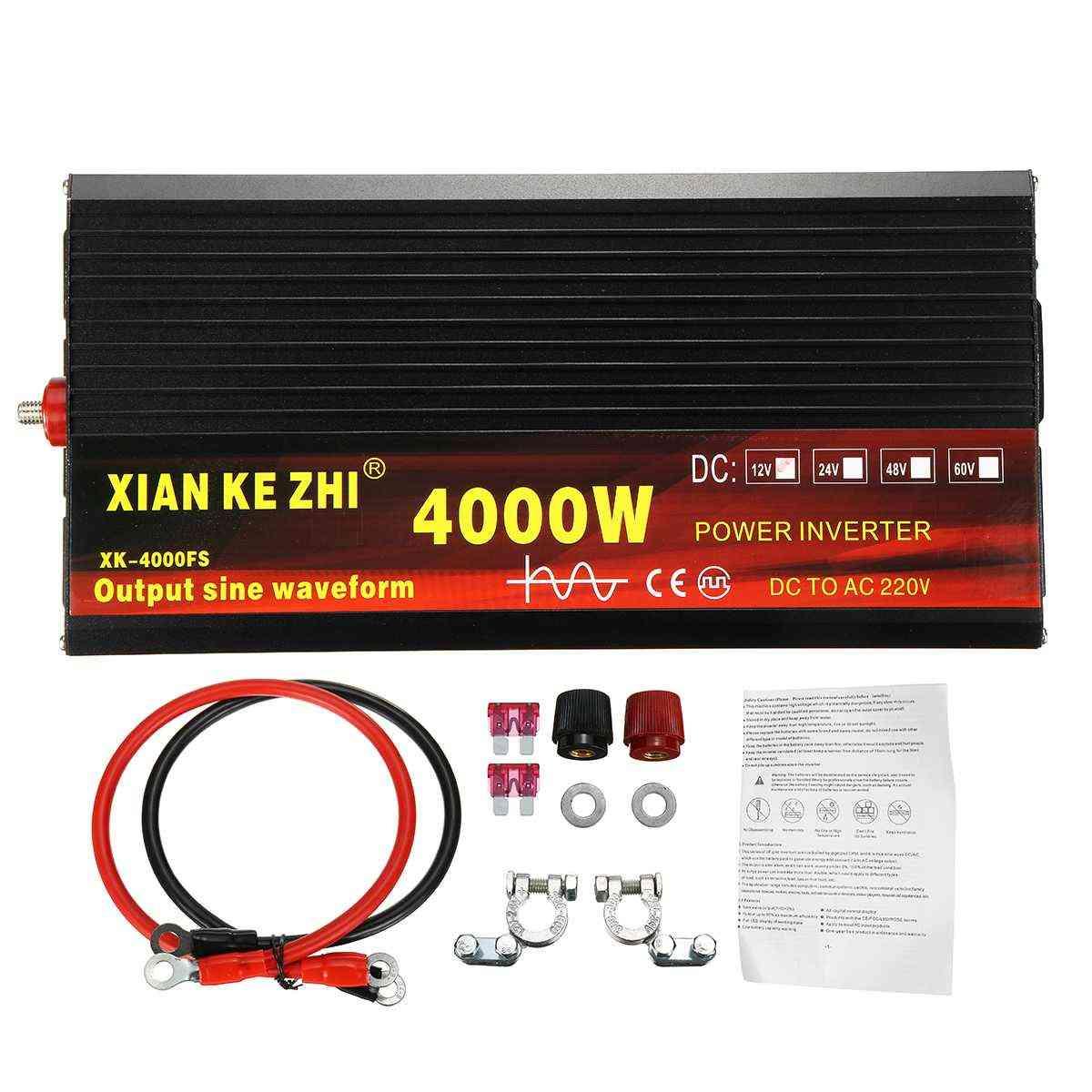 Pure Sine Wave Power Inverter , Dc12v To Ac 220v Converter+2 Led Display