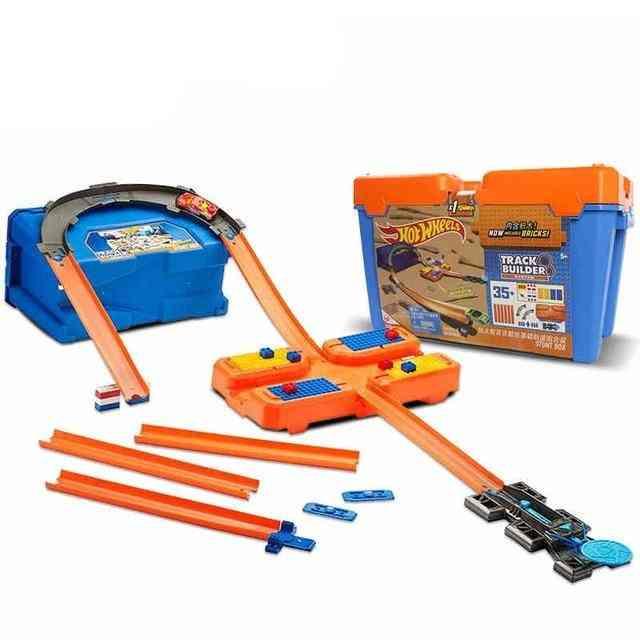 Multifunctional Car Track Builder-stunt Box With Bricks