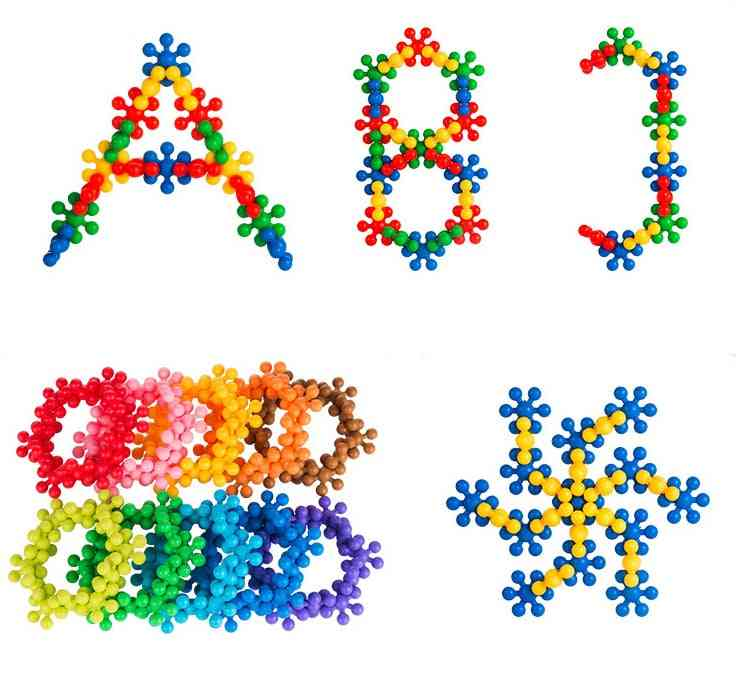 3d Puzzle Jigsaw-plastic Snowflake And Flower Blocks For Building Model