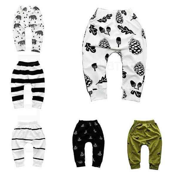 Print Pattern Cotton Baby Trousers, Pp Pants