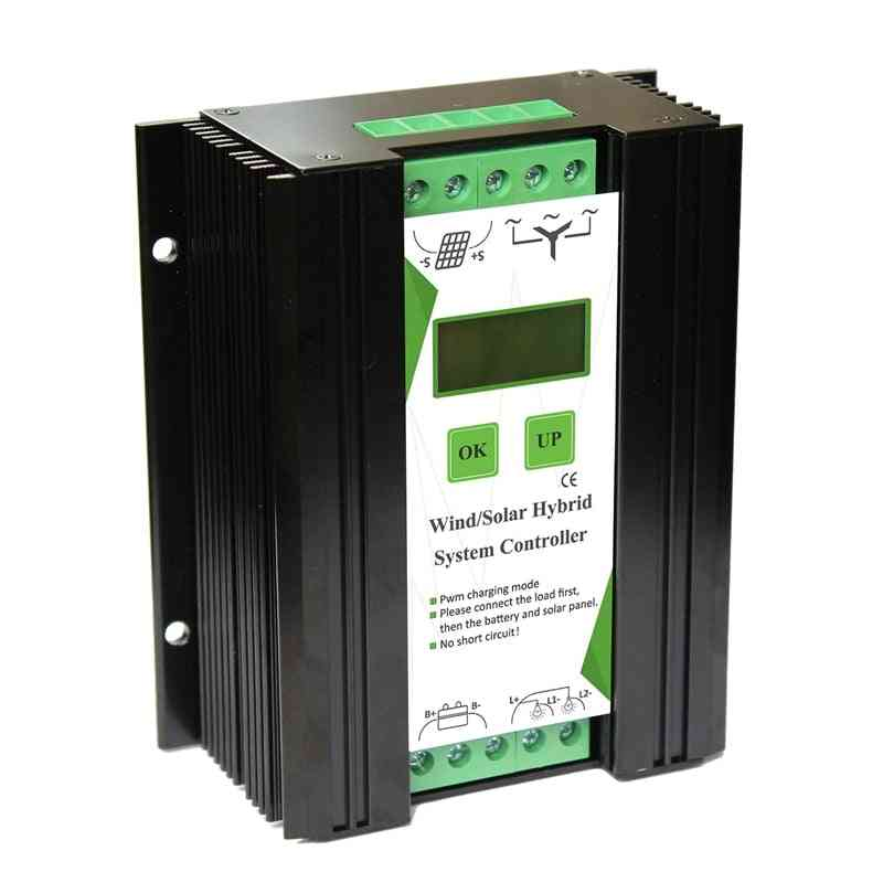 Wind And Solar Hybrid System Controller With Lcd Monitor