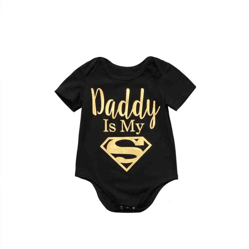 Boys / Clothes, Daddy Is My Hero Print Jumpsuit