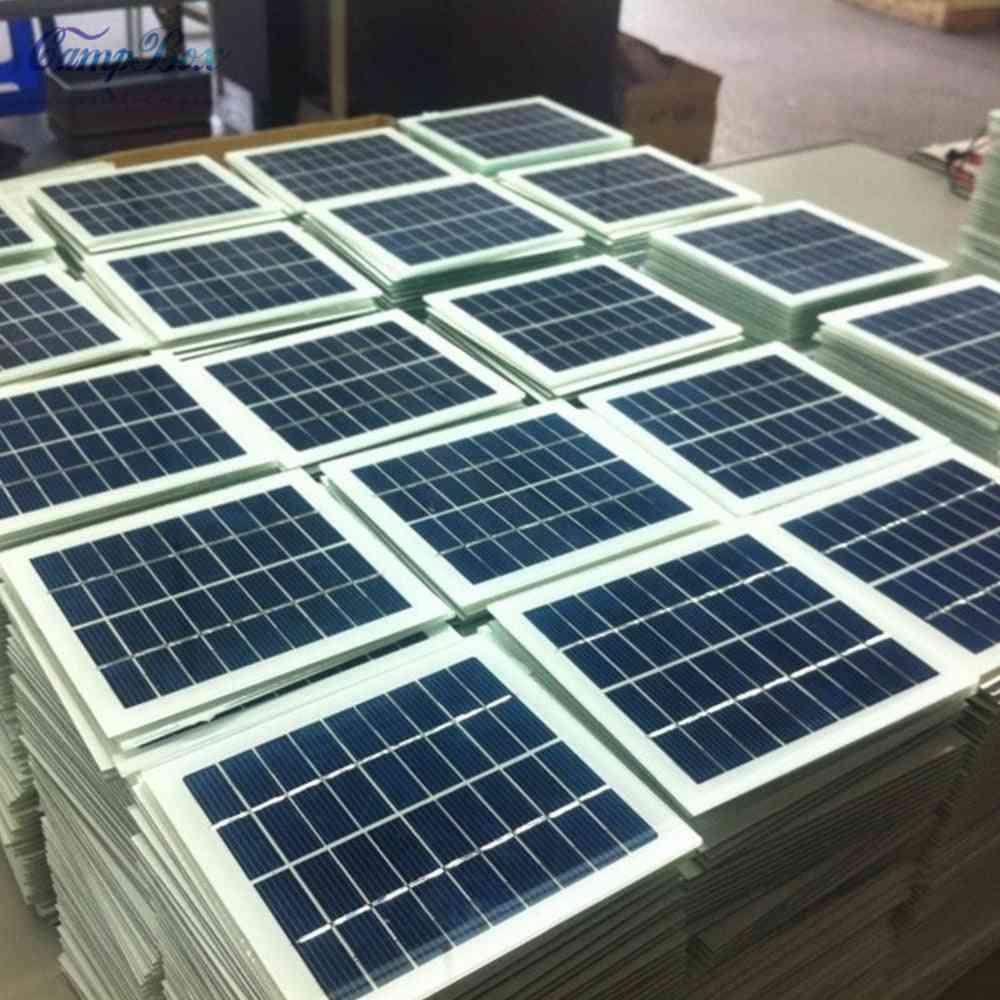 9v 2w Glass Laminated Polycrystalline Silicon Solar Panel