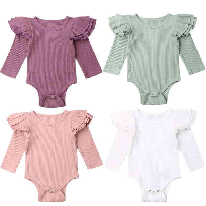 Spring/autumn Long Sleeve Bodysuit For Babies