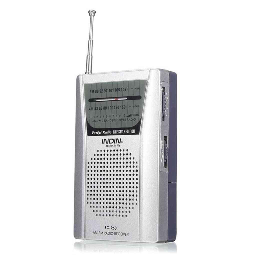 Universal Pocket Telescopic Antenna - Mini Am/fm 2 Band Radio