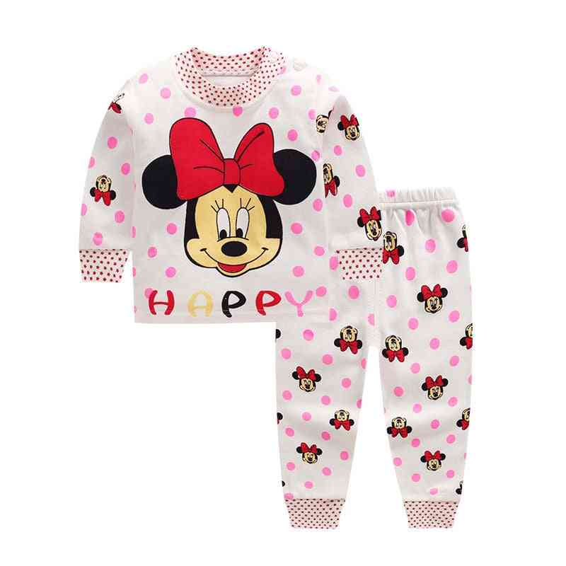 Cartoon Printed Pullover And Trousers For Babies