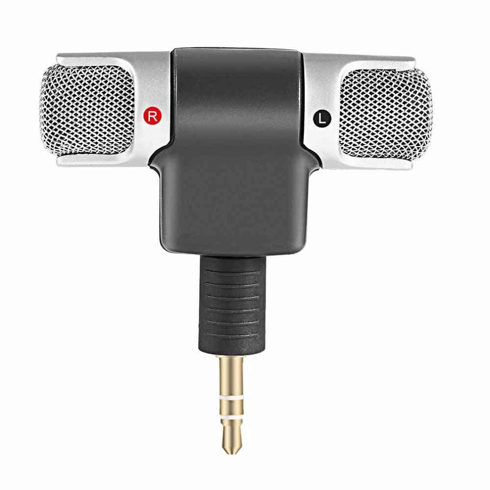 L Shape, Mini Stereo Microphone For Pc/laptop/notebook
