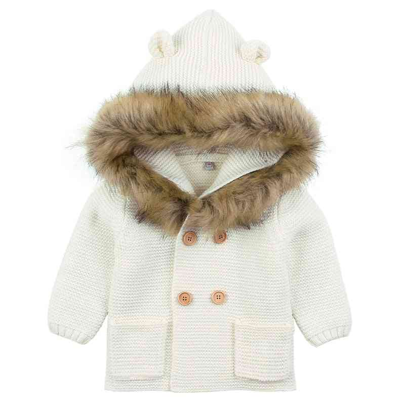 Baby/ Winter Warm Sweaters, Long Sleeve Hooded Coat