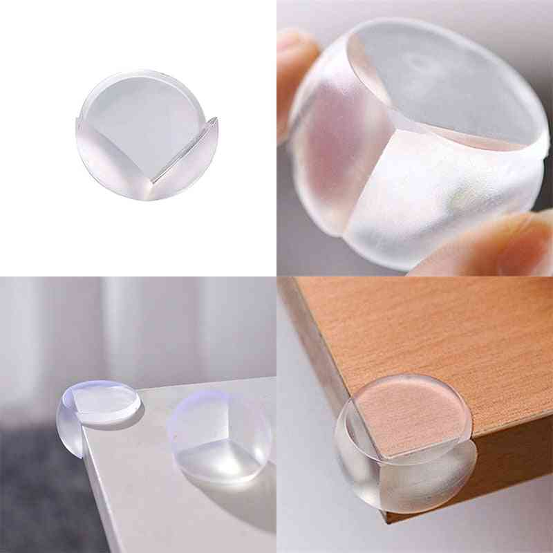 Baby Anti-collision Corner Guard - Silicone Material For Door Stopper & Wall Protector
