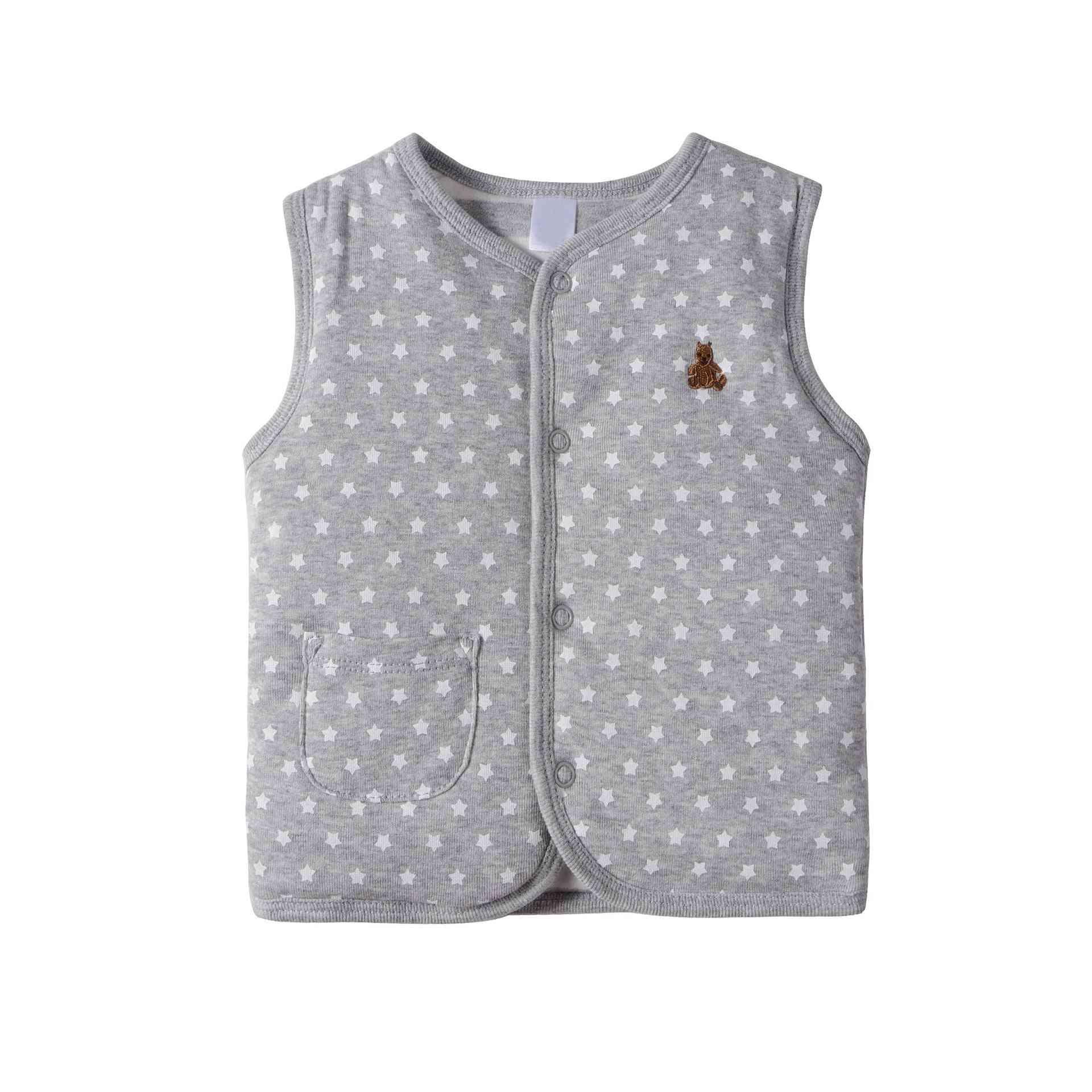 V-neck, Designer Waistcoat With Double Cotton Padding