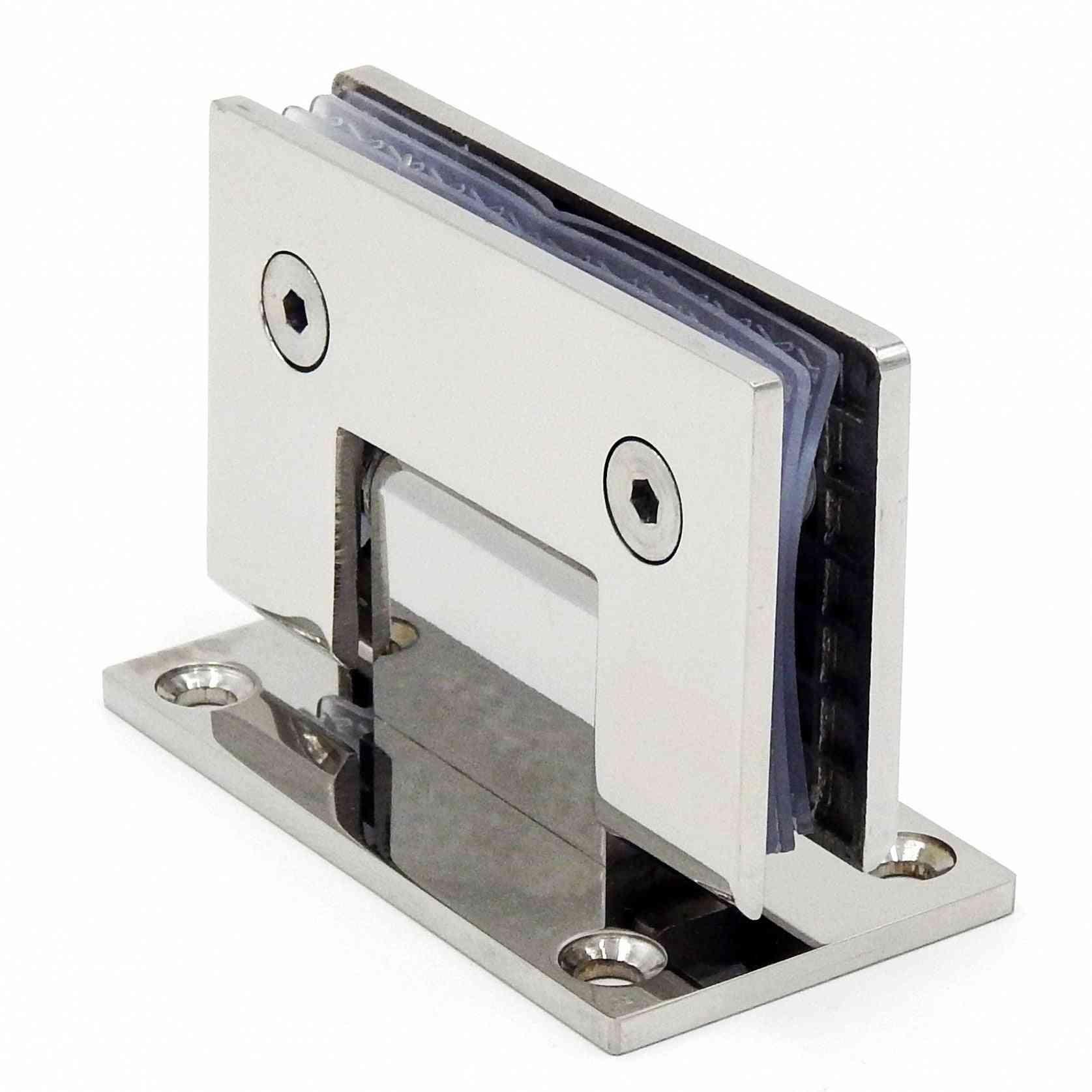 Stainless Steel Frameless Glass Door Hinge, 90 Degrees Folding Clip