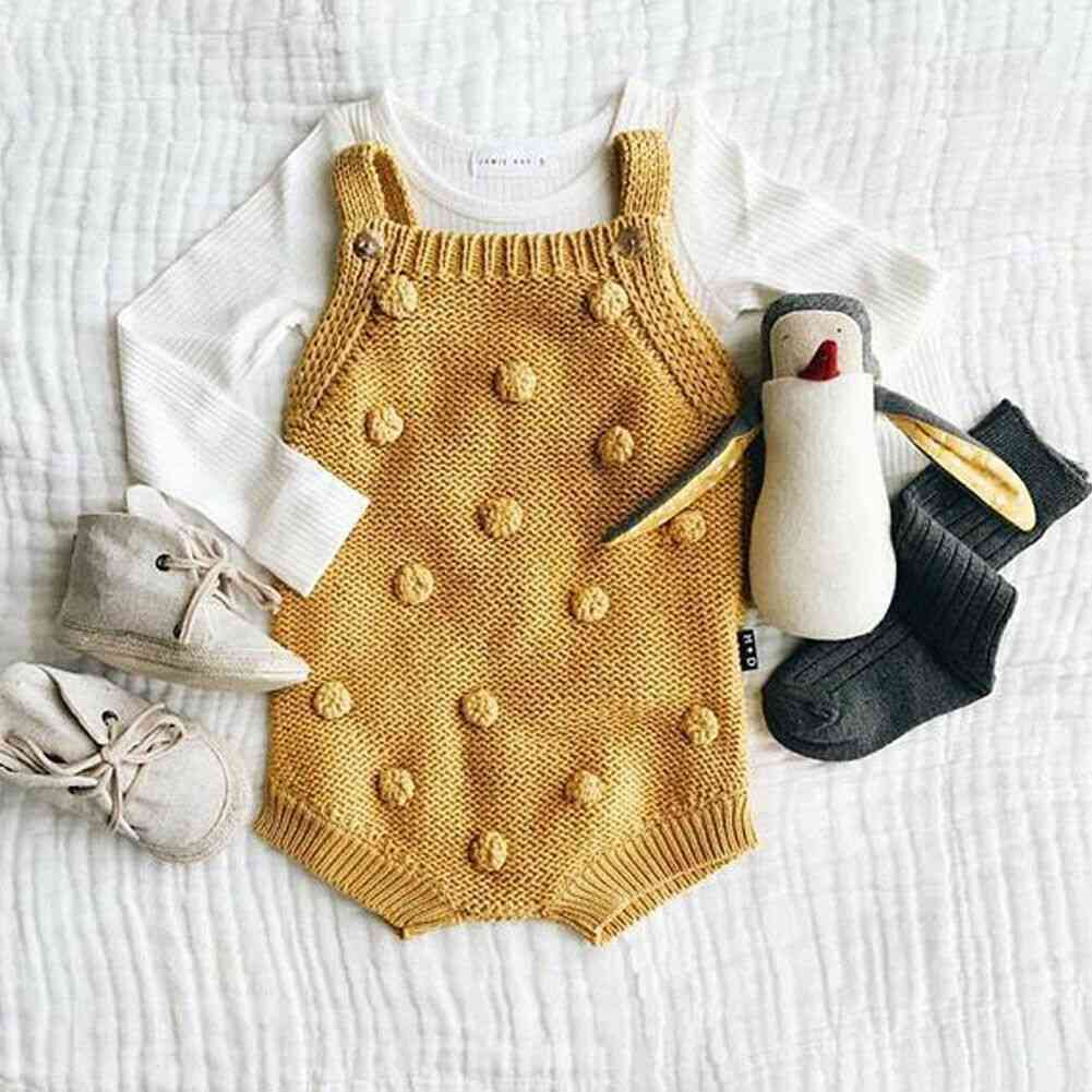 Winter Sweater Sleeveless Jumpsuit Outfits For Baby