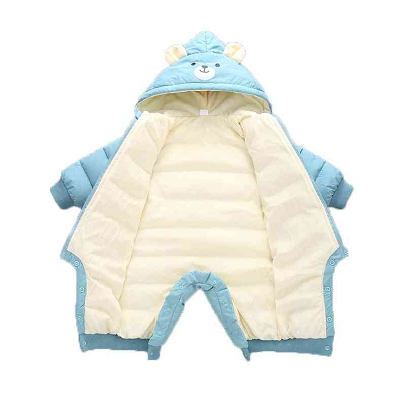 Baby Clothes Winter Hooded, Rompers, Thick Cotton Warm Outfit, Snowsuit Boy Clothing