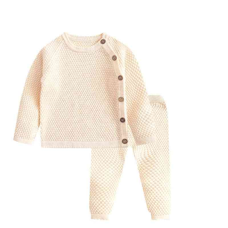 Baby Boy Clothes Set Autumn, Winter, Solid Color, Long Sleeve Tops+pants Outfits