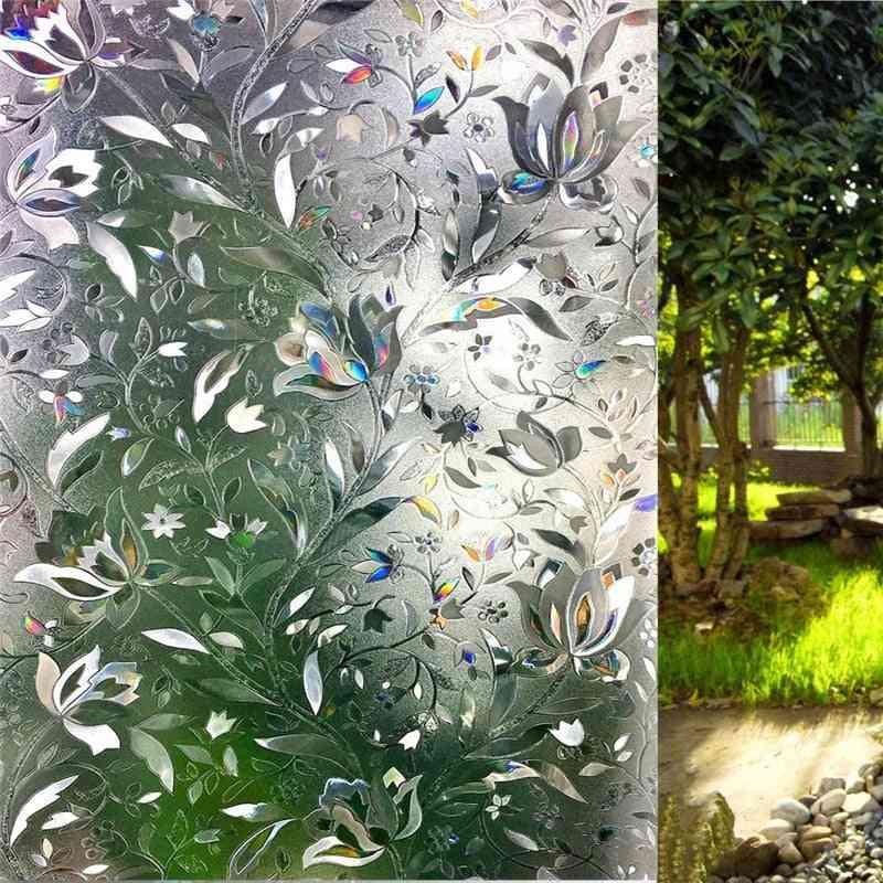 No Glue Privacy Decorative Window Film Static Cling Self-adhesive Opaque Glass Sticker