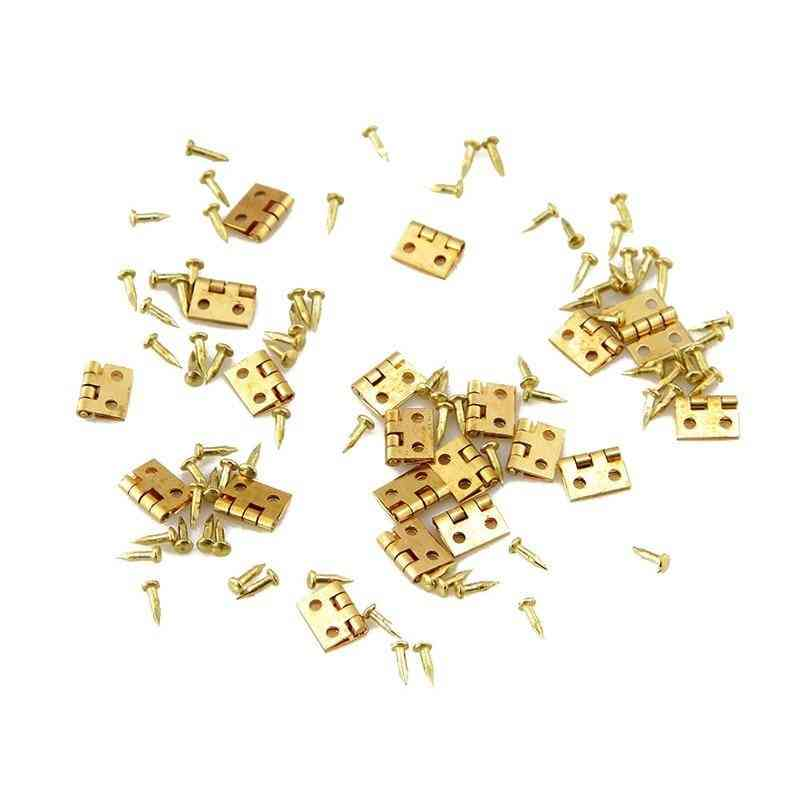 20pcs Of Mini Metal Hinge For Doll House Miniature