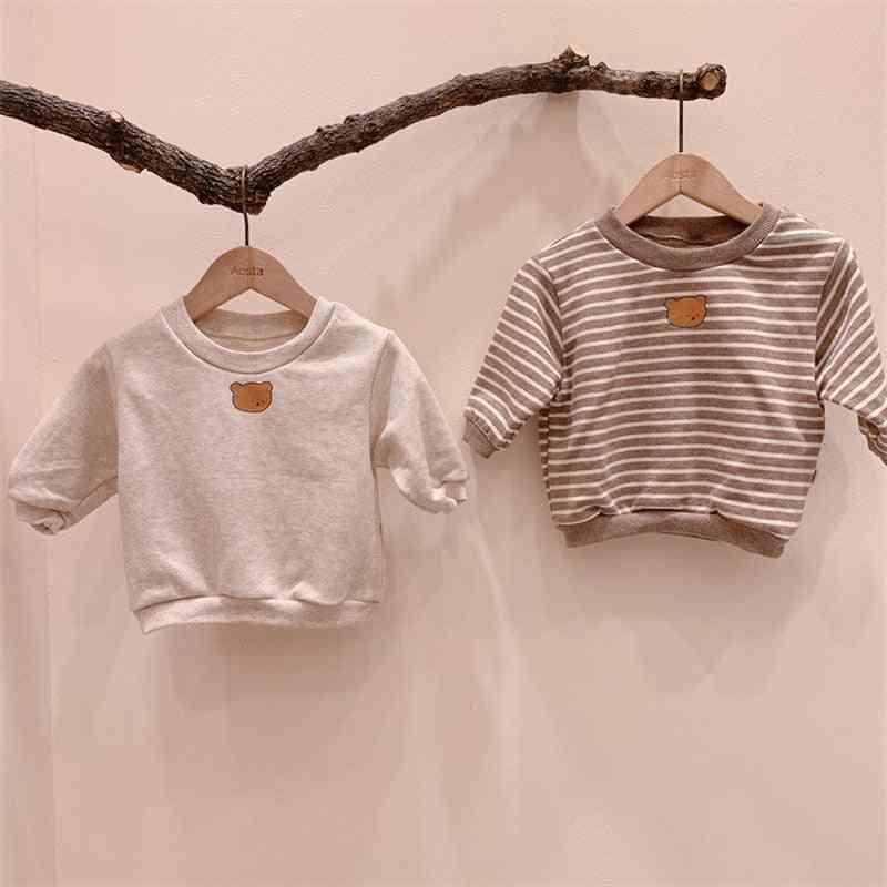 Autumn Newborn Baby Clothes Bear Print Sweatshirt Cotton Long Sleeve Tops Cute Lovely