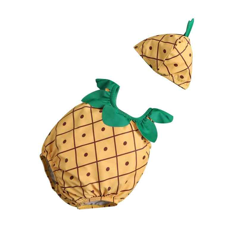 Cute Fruit/animal Shaped-one Piece Swimsuit And Cap