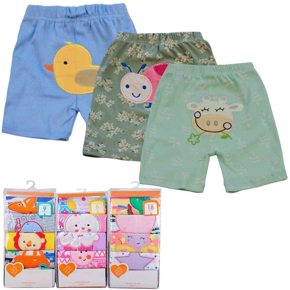 Cotton Cartoon Trousers & Shorts - Casual Bloomers For/girls