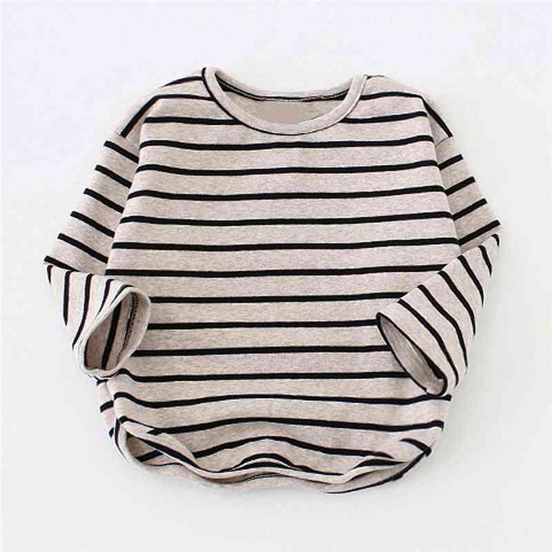 Striped, Long Sleeve Tops  For Kids