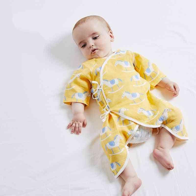 Baby Clothing Summer Rompers Boy Pajamas Infant Jumpsuits Cute Cartoon Newborn Clothes Organic Cotton Gauze Unisex