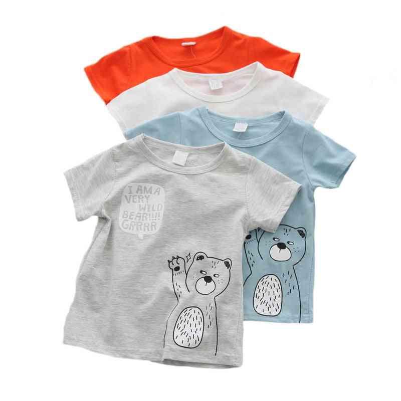 Cotton T Shirt Short Sleeve - Cartoon Casual Summer Clothing For
