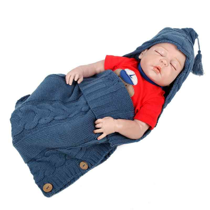 Style Knitted Baby Robes Sleeping Bag, Cute Winter Clothing Sleepwear For /