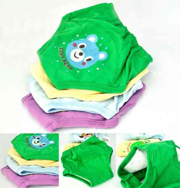 Baby Newborn Girl / Boy Layers Waterproof Potty Training Pants, Reusable Cotton Cartoon Soft Infant