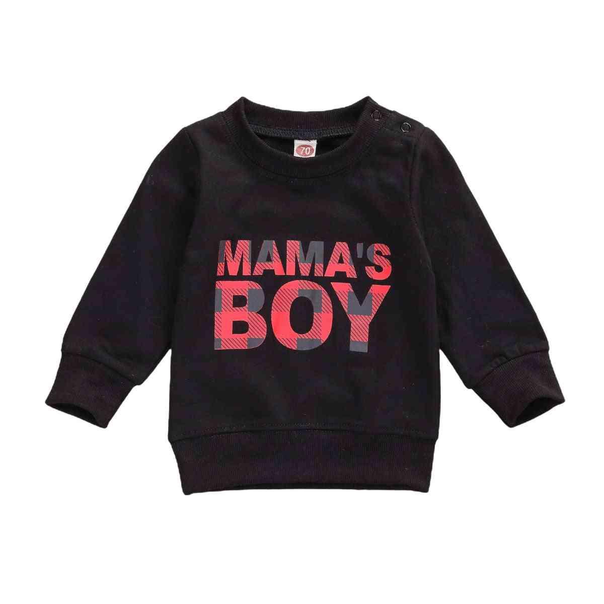 Newborn Baby Boy Girl Sweatshirt Autumn Spring Letter Print Long Sleeve Tops