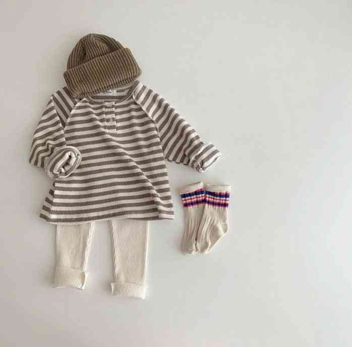 Children's Simple,  Loose Casual Striped T-shirt