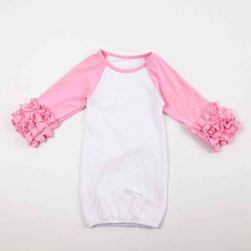 Full Sleeve, Ruffled Nightgowns For Newborn