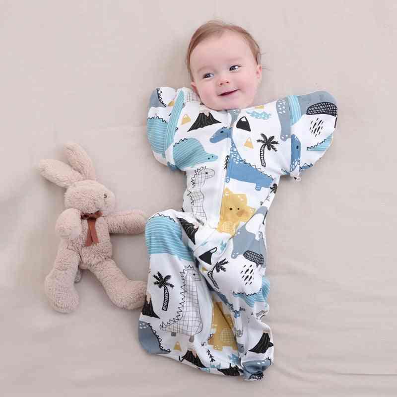 Newborn Baby Anti-frightening, Cotton Sleepsack, Zip Up Swaddle